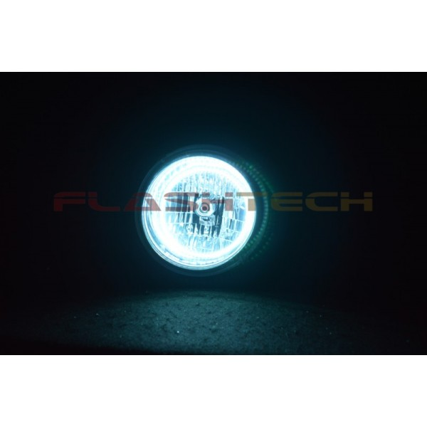 Flashtech Jeep Liberty White Led Halo Headlight Kit 2002 2007 Je