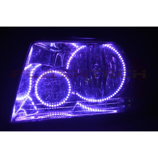 Ford Expedition V 3 Fusion Color Change Led Halo Headlight Kit 2003 2006