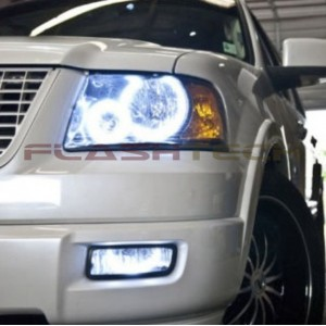 flashtech Ford Expedition white halo headlight kit (2003-2006) Headlights FO-EP0306-WH