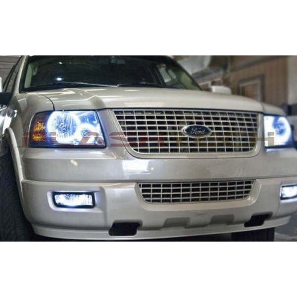Flashtech Ford Expedition White Halo Headlight Kit 2003 2006 Headlights Fo Ep0306