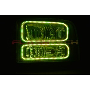 flashtech Ford F250 / F350 V.3 Fusion Color Change LED Halo Headlight Kit (2005-2007) F250 - F350 FO-F20507-V3H