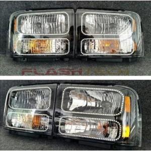 flashtech Ford F250 / F350 V.3 Fusion Color Change LED Halo Headlights (2005-2007) F250 - F350 FO-F20507-V3H