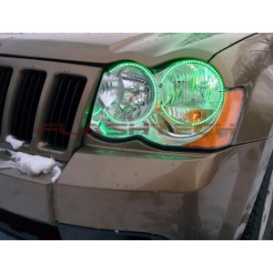 flashtech Jeep Grand Cherokee V.3 Fusion Color Change LED Halo Headlight Kit (2005-2007) Grand Cherokee JE-GC0507-V3H