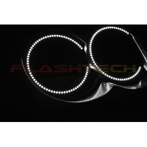 flashtech Jeep Grand Cherokee White LED HALO HEADLIGHT  KIT (2005-2007) Grand Cherokee JE-GC0507-WH