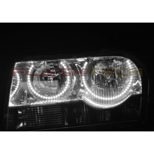 flashtech Chrysler 300 White LED HALO HEADLIGHT KIT (2005-2010) 300 CH-300510-WH