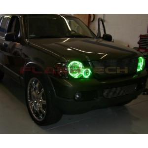 flashtech Ford Explorer V.3 Fusion Color Change LED Halo Headlight Kit (2002-2005) 02-05 Explorer FO-EX0205-V3H