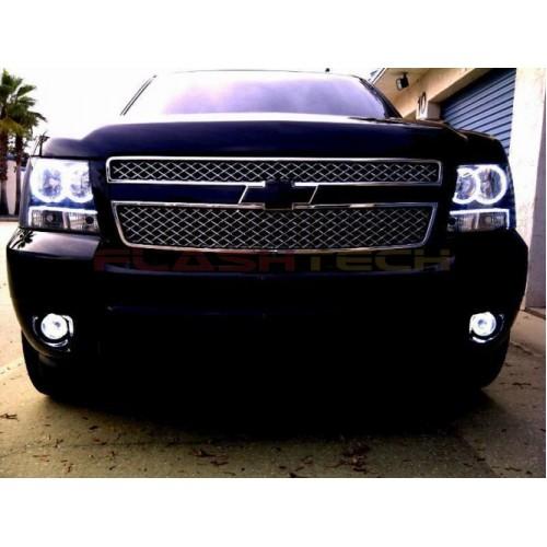 Hyundai Round Rock >> Chevrolet Avalanche White LED HALO FOG LIGHT KIT (2007-2013)