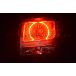 flashtech Dodge Nitro V.3 Fusion Color Change LED Halo Headlight Kit (2007-2012) Nitro DO-NI0712-V3H
