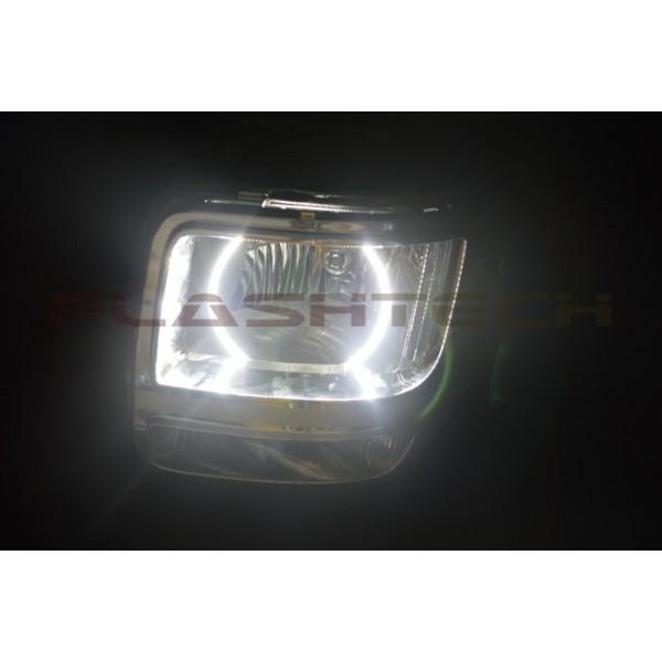 Dodge Nitro White Led Halo Headlight Kit 2007 2012