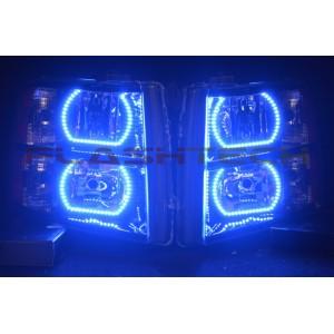 flashtech Chevrolet Silverado V.3  Fusion Color Change halo headlight kit (2007-2013) Silverado CY-SV0713-V3H