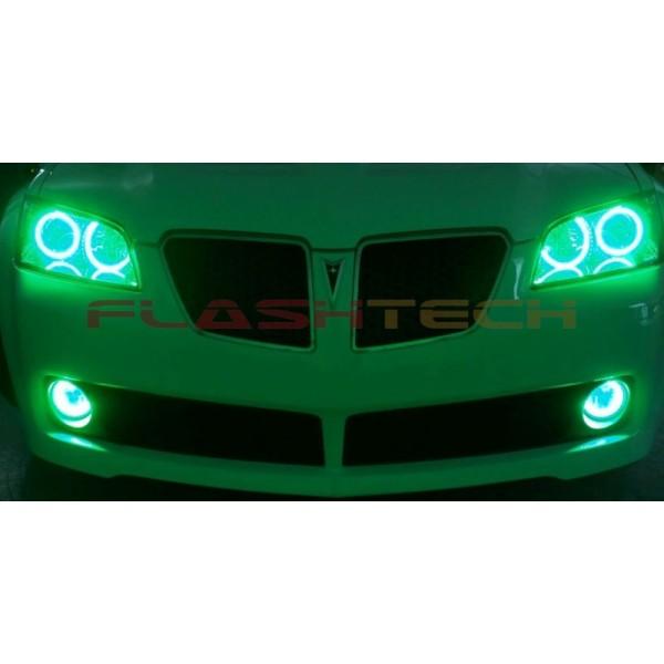 pontiac g8 v 3 fusion color change led halo headlight kit 2008 2009 flashtech
