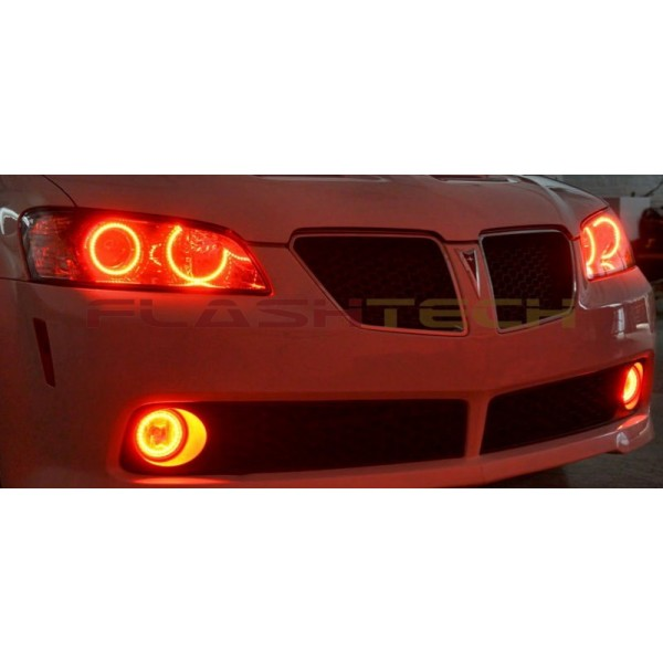 2009PontiacG8RedHaloKit 600x600 pontiac g8 v 3 fusion color change led halo headlight kit (2008 2009)  at crackthecode.co