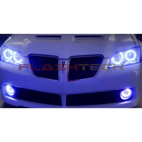 Pontiac G8 White Led Halo Headlight Kit 2008 2009