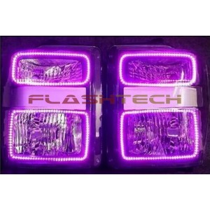 flashtech Ford F250 / F350 V.3 Fusion Color Change LED Halo Headlight Kit (2008-2010) F250 - F350 FO-F20810-V3H