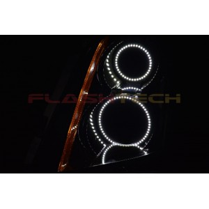 flashtech Cadillac CTS White LED HALO HEADLIGHT  KIT (2008-2013) Cadillac CA-CTSHA0813-WH