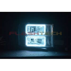 flashtech GMC Sierra V.3 Fusion Color Change LED Halo Headlight Kit (2008-2013) Sierra GMC-SR0813-V3H