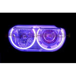 flashtech Dodge Challenger V.4 Plasma Color Change LED Halo Headlight Kit (2008-2014) Challenger DO-CLNP0814-V4H