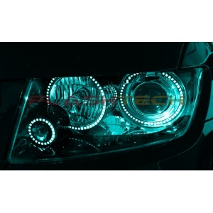 flashtech Jeep Grand Cherokee V.3 Fusion Color Change LED Halo Headlight Kit (2011-2013) Grand Cherokee JE-GC0507-V3H