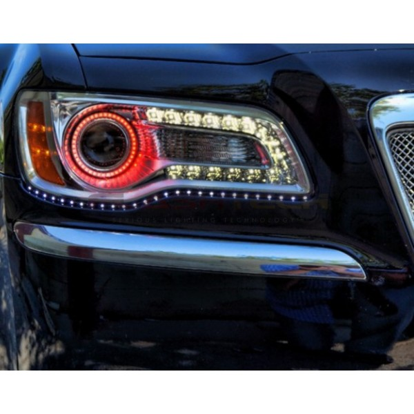 Flashtech Chrysler 300 V 3 Fusion Color Change Led Halo Headlight Kit 2017