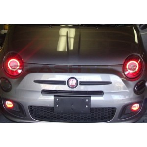 flashtech Fiat 500 V.3 Fusion Color Change LED Halo Headlight Kit (2012-2013) 500 FI-5001213-V3H