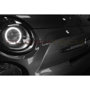 flashtech Fiat 500 White LED HALO HEADLIGHT  KIT (2012-2013) 500 FI-5001213-WH