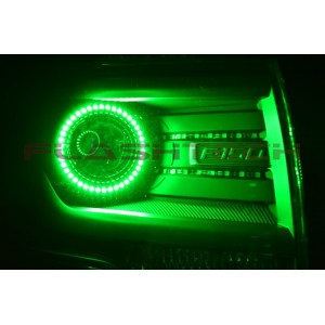 flashtech Ford F150 Projector V.3 Fusion Color Change LED Halo Headlight Kit (2013-2014) 2009-2014 F150 FO-F11314P-V3H