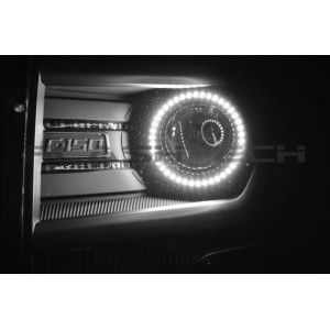 flashtech Ford F150 Projector White LED HALO HEADLIGHT KIT (2013-2014) 2009-2014 F150 FO-F11314P-WH