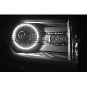 flashtech Ford F150 Projector White LED HALO HEADLIGHT KIT (2013-2014) 2009-2014 F150 FO-F11314P-WH