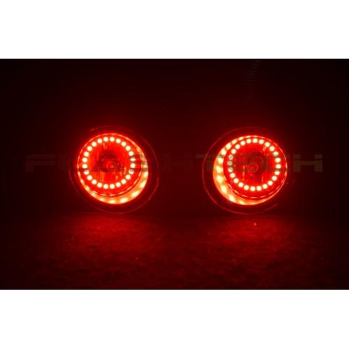 flashtech v 3 color change halo fog light kit for nissan