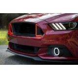Ford Mustang GT External Waterproof White & Amber Switchback LED halo Fog Light Kit 2015-2018