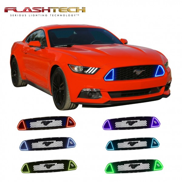 ford mustang gt colorfuse drl color change grille kit 2015 2017
