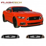 Ford Mustang GT White Amber Switchback DRL grille kit (2015-2018)