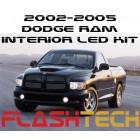 2002-2005 Dodge Ram White LED Interior Kit