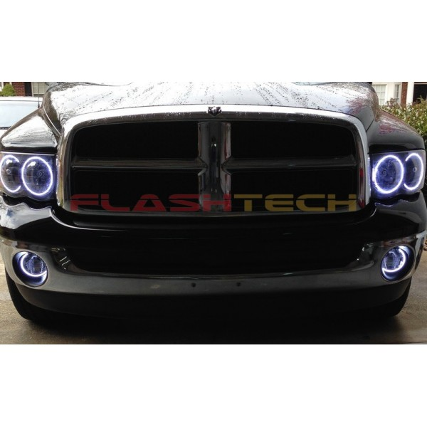 Dodge ram white led halo headlight kit 2002 2005 flashtech dodge ram white led halo headlight kit 2002 2005 2002 2005 publicscrutiny Images