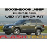 2005-2008 Jeep Cherokee White LED Interior Kit