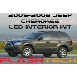 flashtech 2005-2008 Jeep Cherokee White LED Interior Kit Jeep ft-led-kit-0508-jeep-cherokee