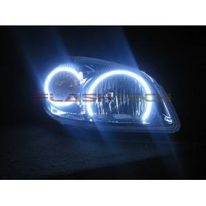 flashtech Chevrolet Cobalt White LED HALO HEADLIGHT KIT  (2005-2010) cobalt CY-CO0510-WH