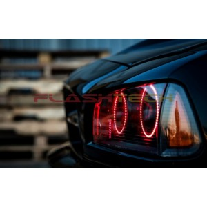 flashtech Dodge Charger V.3 Fusion Color Change LED Halo Headlight Kit (2005-2010) 2005-2010 Charger DO-CR0510-V3H