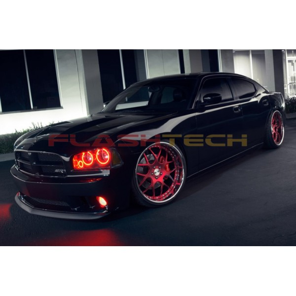 Dodge charger v3 fusion color change led halo headlight kit 2005 2010 flashtech dodge charger v3 fusion color change led halo headlight kit 2005 publicscrutiny