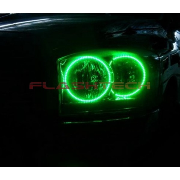 Dodge ram v3 fusion color change led halo headlight kit 2006 2008 flashtech dodge ram v3 fusion color change led halo headlight kit 2006 publicscrutiny Images