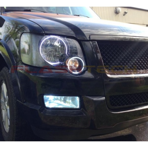 Flashtech Ford Explorer White Led Headlight Halo Kit 2006 2010 06 10