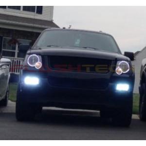 flashtech Ford Explorer White LED HEADLIGHT HALO KIT (2006-2010) 06-10 Explorer FO-EX0610-WH