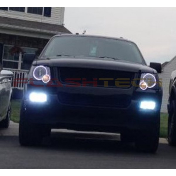 Ford Explorer White Led Headlight Halo Kit 2006 2010