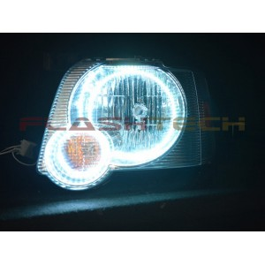flashtech Ford Explorer Sport Trac White LED HEADLIGHT HALO KIT (2006-2010) 06-10 Sport Trac FO-EXST0610-WH