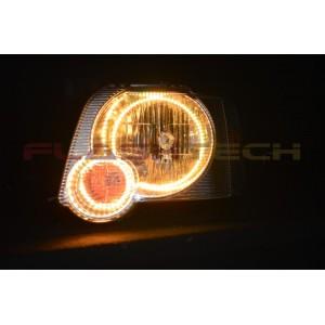 flashtech Ford Explorer V.3 Fusion Color Change LED Halo Headlight Kit (2006-2010) 06-10 Explorer FO-EX0610-V3H