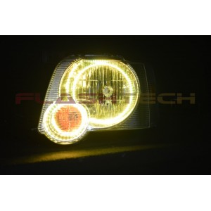 flashtech Ford Explorer Sport Trac V.3 Fusion Color Change LED Halo Headlight Kit (2006-2010) 06-10 Sport Trac FO-EXST0610-V3H