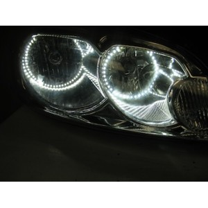 flashtech Chevrolet Impala White LED HALO HEADLIGHT  KIT (2006-2012) Impala CY-IM0612-WH