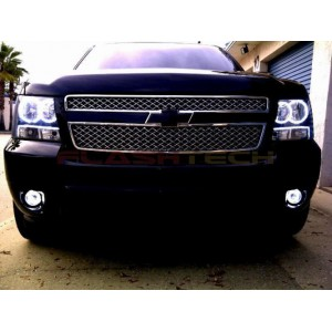 flashtech Chevrolet Avalanche White LED HALO HEADLIGHT KIT (2007-2013) Avalanche CY-AV0713-WH