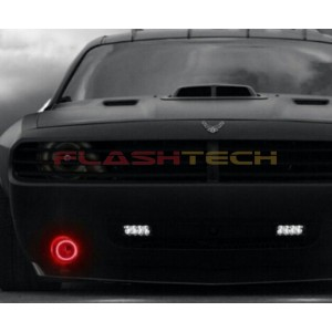 flashtech Dodge Challenger V.3 Fusion Color Change LED Halo Fog Light Kit (2008-2014) Challenger DO-CL0814-V3F