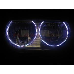 flashtech Dodge Challenger White Non Projector LED HALO HEADLIGHT KIT (2008-2014) Challenger DO-CLP0814-WH